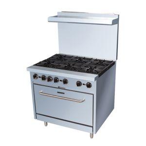 Black Diamond 6 Burner Gas Range w/Oven