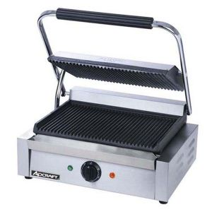 Adcraft Panini Grill - Grooved
